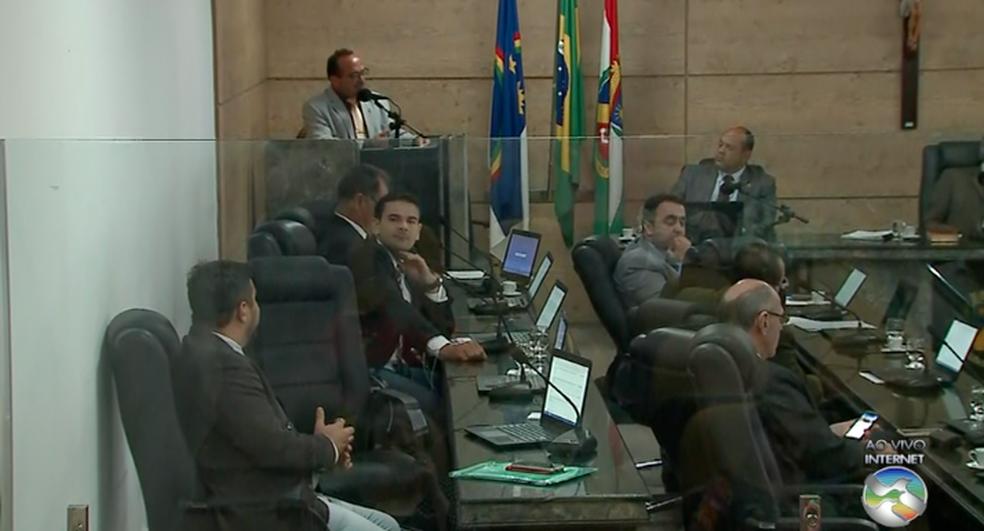 Projeto de empréstimo de R$ 83 milhões foi aprovada na Câmara de Vereadores nesta terça (16) (Foto: TV Asa Branca/Reprodução)