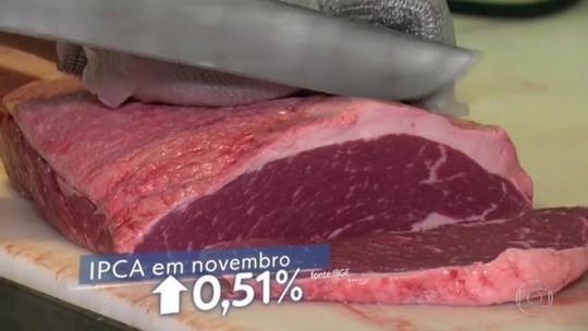 Vilã da inflação em novembro, carne subiu 12% no ano