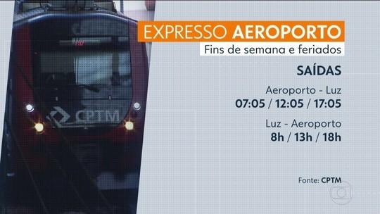 Trem direto entre Luz e Aeroporto de Guarulhos passa a funcionar aos fins de semana