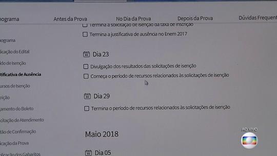 Enem 2018 recebe mais de 2,5 milhões de pedidos de isenção; prazo termina no domingo