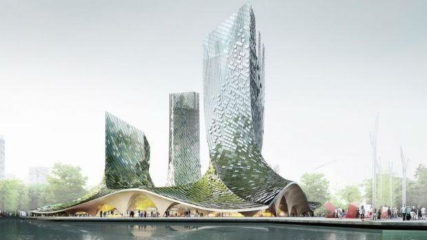 Arquitetos franceses querem construir torres com biofachada na China (Foto: Divulgação)