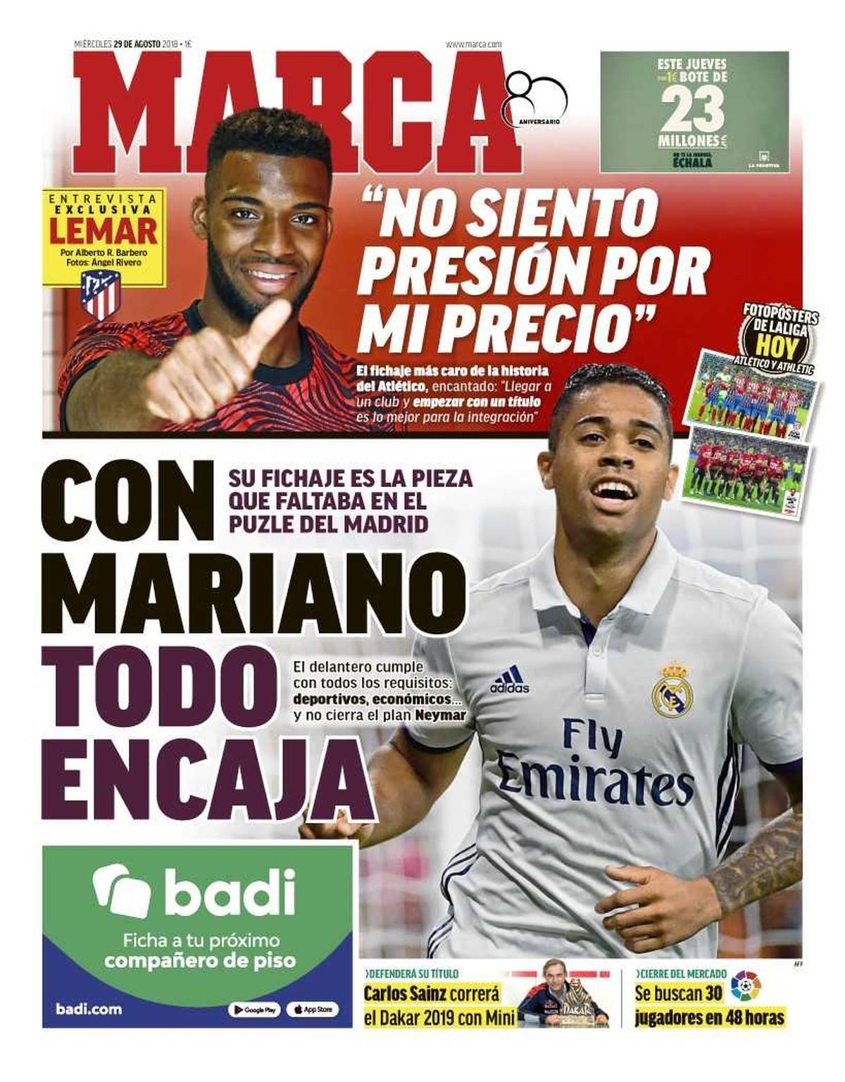 Jornal crava volta de Mariano Díaz ao Real e500bc8eb9fa8