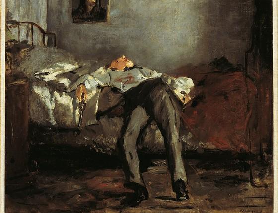 O suicida, de Édouard Manet, pintura a óleo que se tornou célebre por retratar o tema de forma realista (Foto: BRIDGEMAN IMAGES)