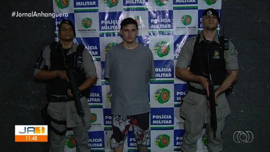 Jovem é preso suspeito de assaltar dois motoristas de app em Goiânia