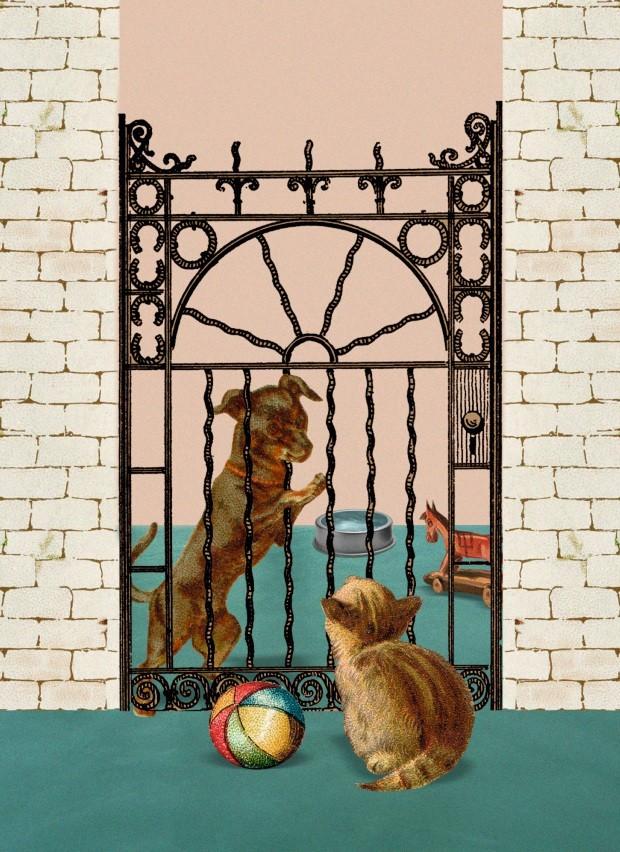 Ilustração A vida com pets, março de 2019 (Foto: Ilustração Yumi Shimada / Editora Globo)