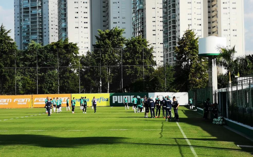 Palmeiras treina nesta quarta-feira, na Academia de Futebol  — Foto: Tossiro Neto
