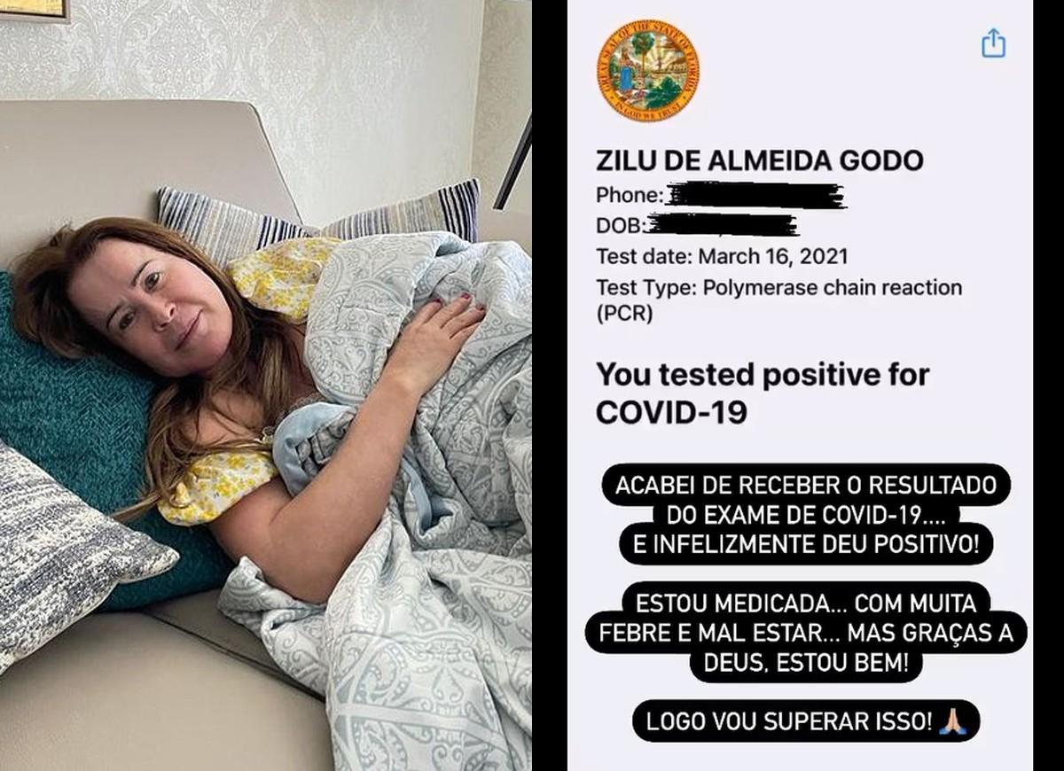 Zilu Godói mostra teste positivo para Covid-19 (Foto: Reprodução/Instagram)