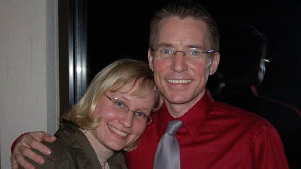 Padgett conheceu sua futura esposa na universidade — Foto: Jason Padgett/via BBC