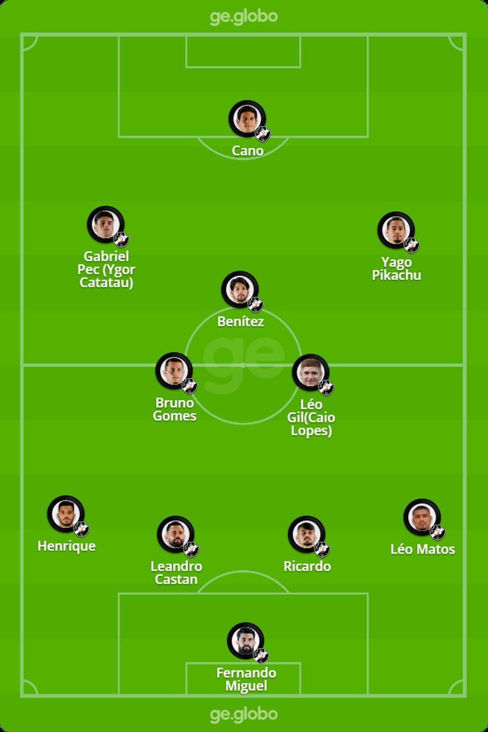 Campinho Vasco x Inter — Foto: ge
