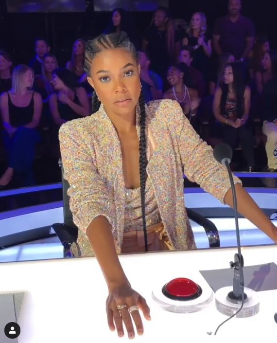 Gabrielle Union no 'America's Got Talent' (Foto: Instagram)