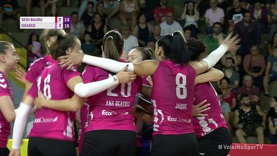 Os pontos finais de Sesi-Bauru 2 x 3 Osasco pela Superliga Feminina de Vôlei