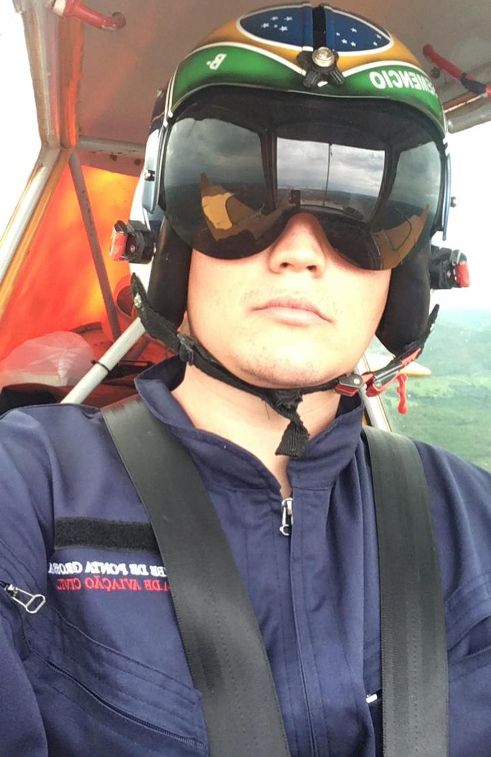 Última foto que o piloto Maicon Semencio Esteves mandou para a família antes do acidente - Foto: Arquivo pessoal