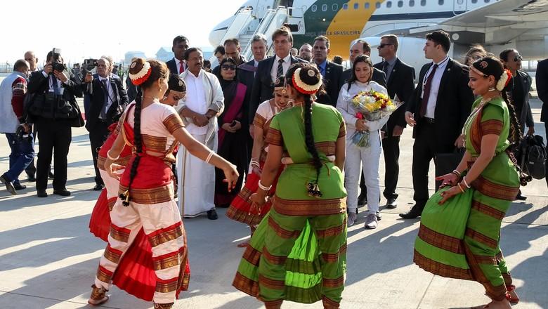 Bolsonaro na Índia (Foto: Clauber Cleber Caetano/PR/Divulgação)