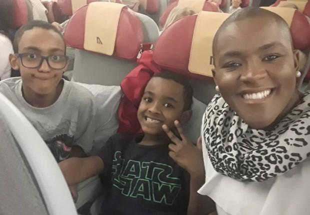 Angélica Ramos com os filhos Luiz Otávio e Vinícius (Foto: Reprodução/Instagram)
