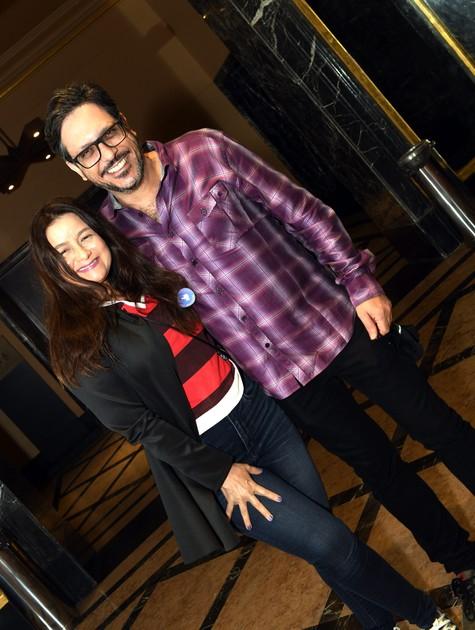 Lucio Mauro Filho com a mulher, Cíntia Oliveira (Foto: Cristina Granato)