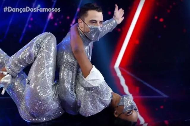 Felipe Titto e Brennda Martins na 'Dança dos famosos' (Foto: Reprodução)