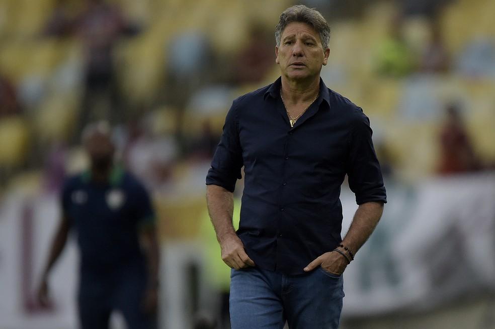 Renato Gaúcho Fluminense 2x1 Grêmio — Foto: Divulgação/Grêmio