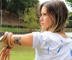 Juliana Didone e a serpente | Arquivo pessoal
