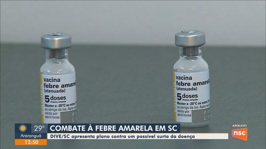 Saúde divulga plano de ação para evitar surto de febre amarela em SC