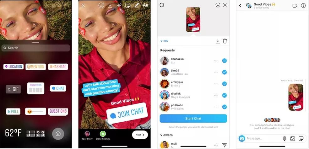 Nova função permite criação de conversas em grupo — Foto: Divulgação/Instagram