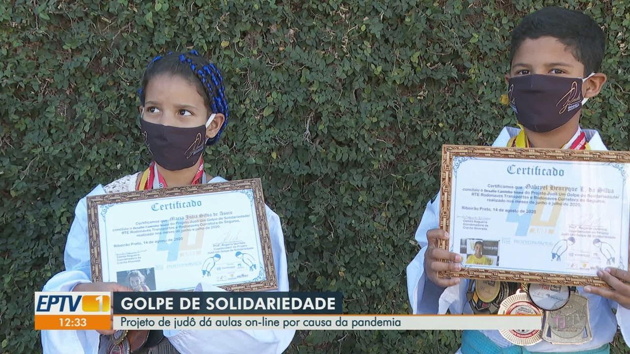 Projeto de judô mantém trabalho social com aulas online em Ribeirão Preto