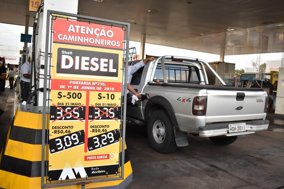Aumento do diesel no Ceará será o maior do país — Foto: Fernando Evans/G1