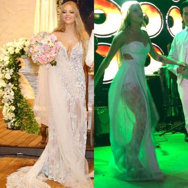 Vestidos usados por Luísa Sonza em seu casamento com Whindersson Nunes (Foto: Divulgação/Manuela Scarpa/ Brazil News)