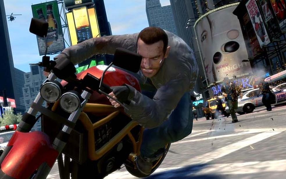 GTA 4 tinha um protagonista apenas, mas já era possível escolher o final — Foto: Divulgação/Rockstar Games