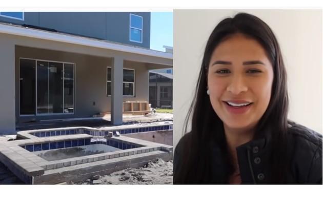 Simone mostra fachada de sua casa em Orlando, nos EUA (Foto: Reprodução/Youtube)