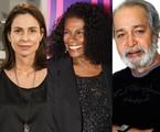 Silvia Pfeifer, Zezé Motta e Gracindo Júnior | TV Globo e reprodução