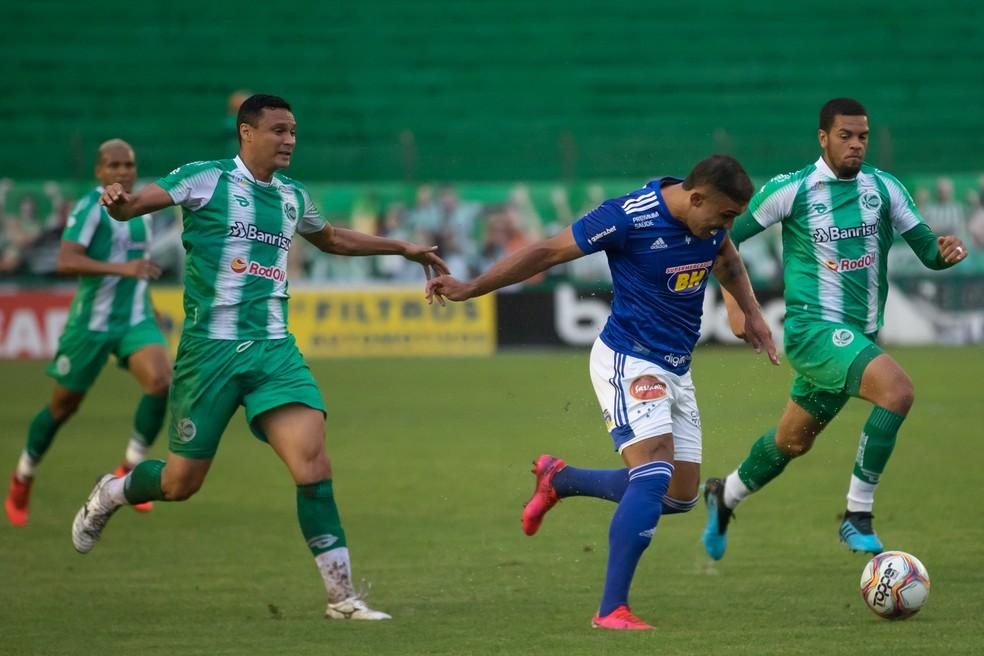 Cruzeiro finalizou 19 vezes contra o Juventude, mas não marcou — Foto: Igor Sales/Cruzeiro