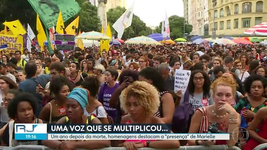 Marielle Franco é lembrada na Maré e em atos públicos nas praças e ruas do Rio