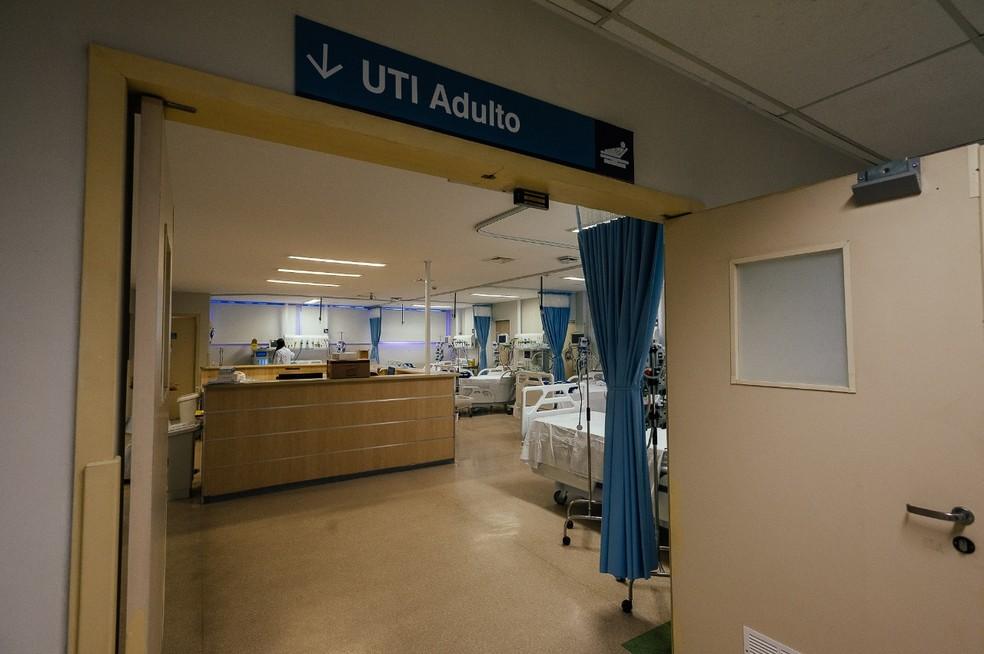 Unidade de Tratamento Intensivo (UTI) do hospital Bela Vista, em SP, para tratamento de vítimas da Covid-19. — Foto: Divulgação/PMSP