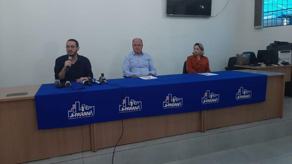 Prefeito Marcito Pinto fala sobre caso de coronavírus em Ji-Paraná — Foto: Gedeon Miranda/Rede Amazônica