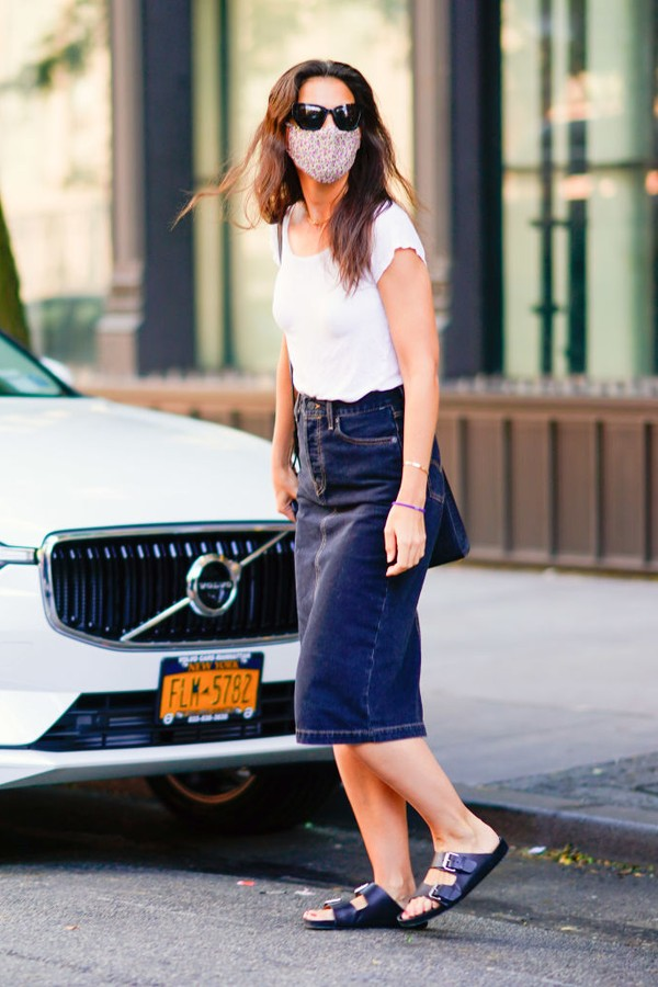 NEW YORK, NEW YORK - AUGUST 02: Katie Holmes is seen on August 02, 2020 in New York City. (Photo by Gotham/GC Images) (Foto: GC Images)