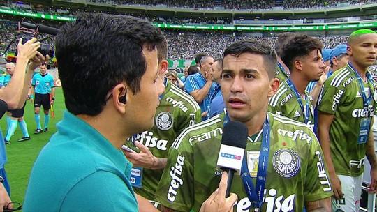 """Dudu sobre a permanência no Palmeiras: """"Tenho contrato até 2022"""""""