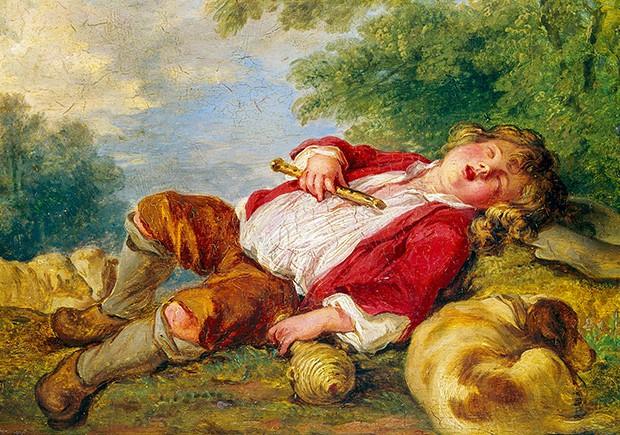 """A arte do crime. """"Sleeping Shepherd"""" Pastoral do pintor francês François Boucher, da coleção de Breitwieser (Foto: reprodução)"""