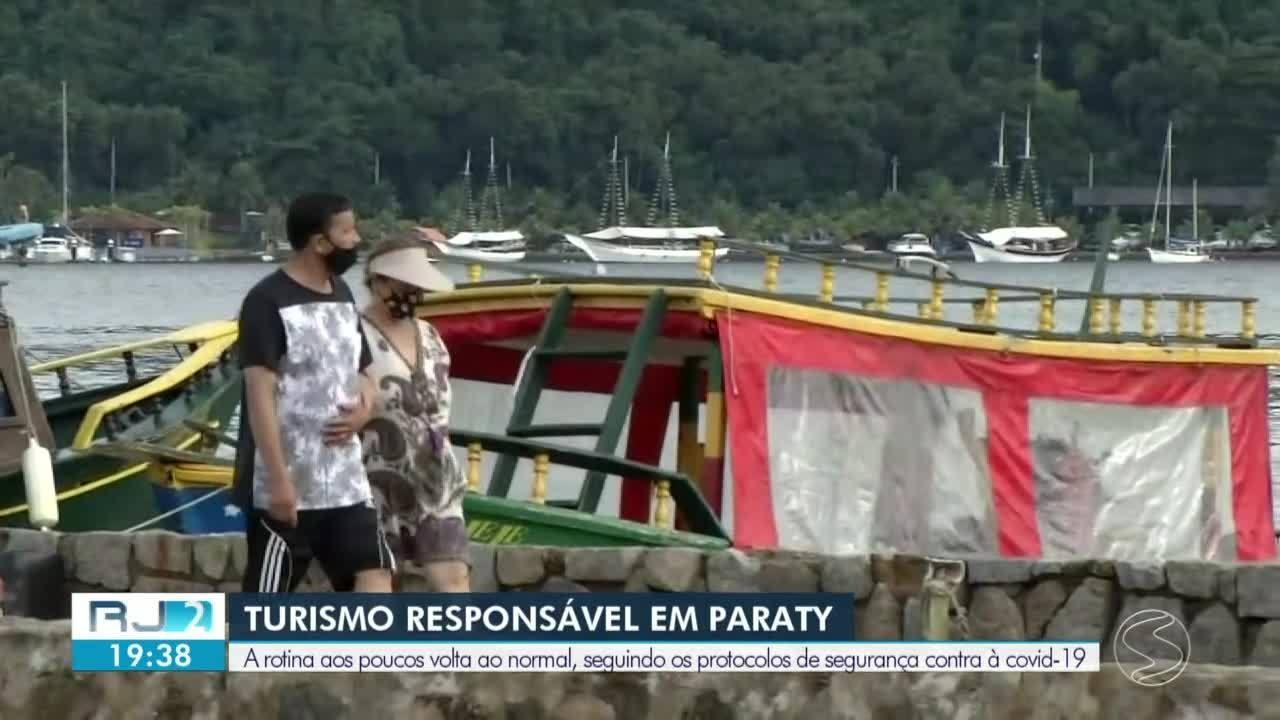 Turismo em Paraty vai sendo retomado aos poucos com consciência dos visitantes
