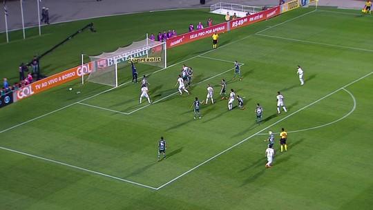 Veja os gols de Santos 1 x 1 Palmeiras