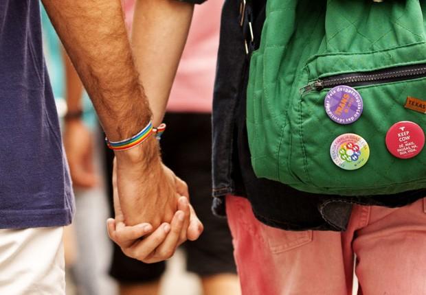 Participantes da 19ª Parada do Orgulho LGBT na Avenida Paulista, São Paulo (Foto: Leo Pinheiro/Fotos Públicas)