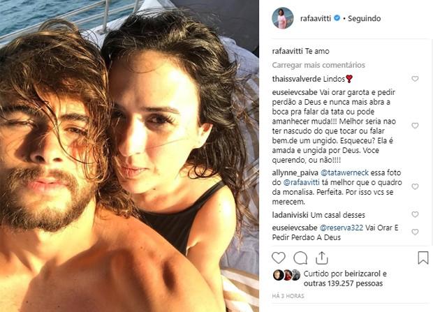 Tatá Werneck e Rafael Vitti (Foto: Reprodução/Instagram)