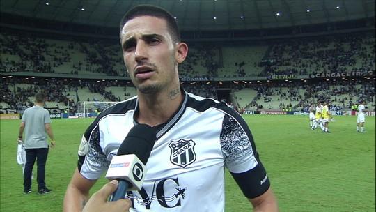 """Thiago Galhardo faz mea culpa por situação do Ceará e destaca: """"Tem que sentar e secar"""""""