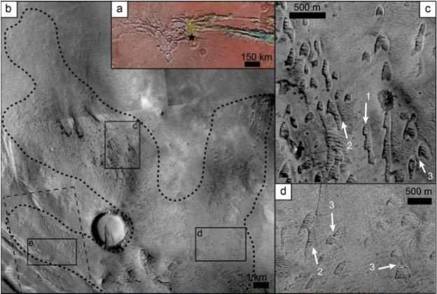 Cientistas descobriram as dunas a partir da análise de imagens de satélite (Foto: Mackenzie Day and David Catling/ AGU)