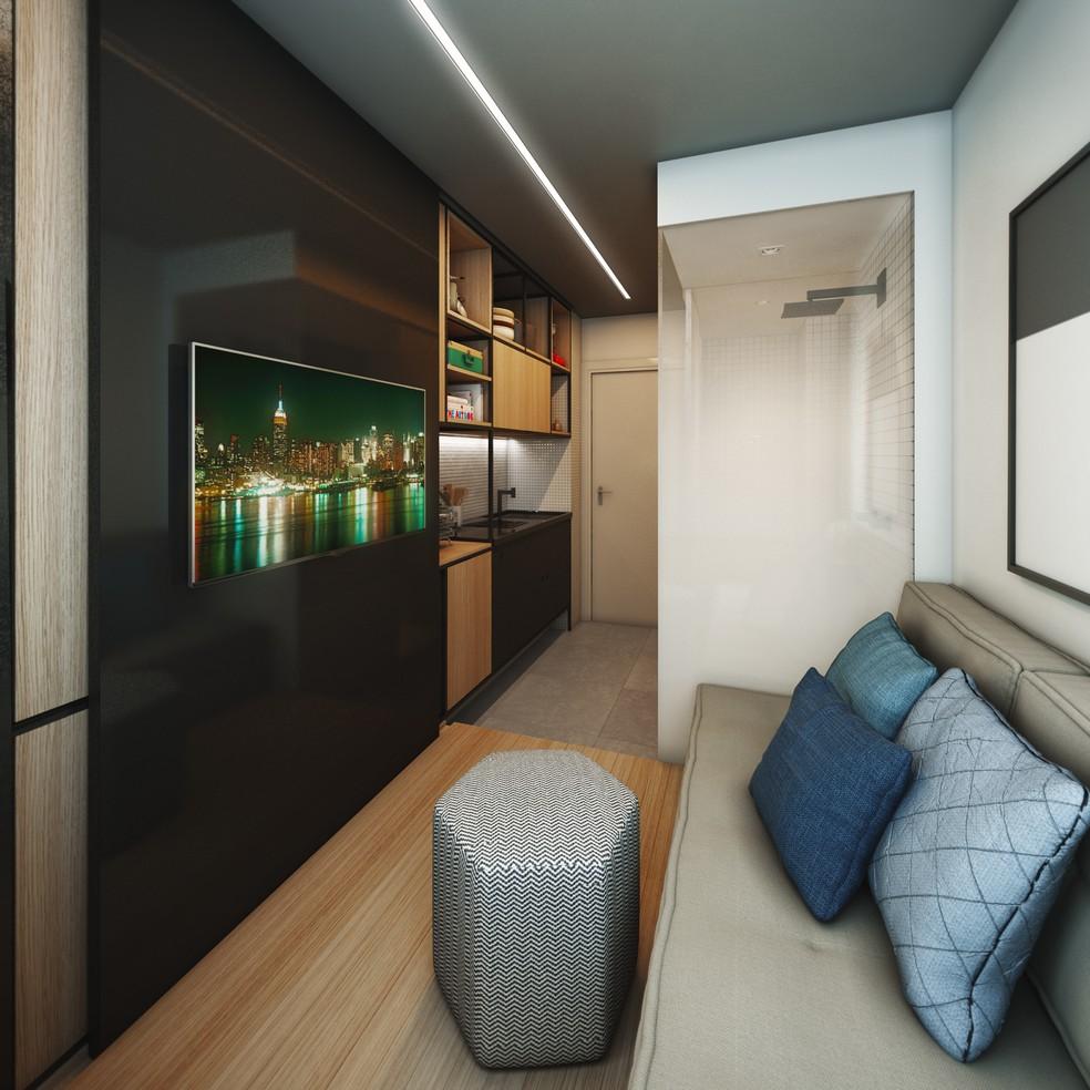 516ac0e37 Construtora lança apartamentos de 10 metros quadrados em São Paulo ...