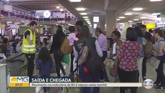 Rodoviária de Belo Horizonte tem aumento de 50% no movimento durante feriado
