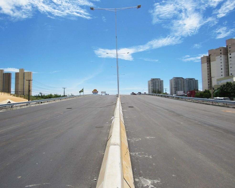 Segundo o Dnit, pistas principais do viaduto devem ser liberadas para o tráfego em duas semanas (Foto: Dnit/Divulgação)