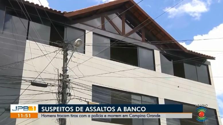 Dupla suspeita de assaltos a bancos morre após confronto com a polícia, em Campina Grande