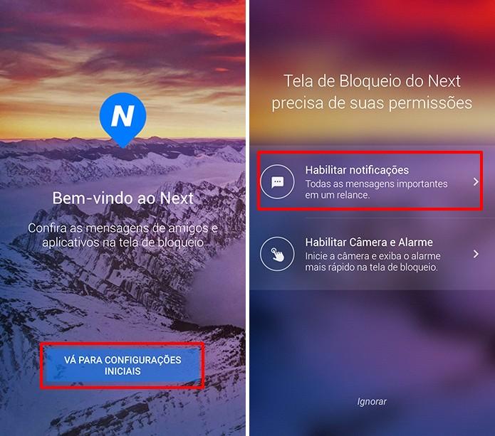 Next Lock Screen precisa que usuário dê permissões no Android (Foto: Reprodução/Elson de Souza)