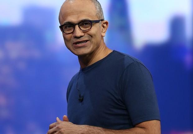 Satya Nadella, CEO da Microsoft (Foto: Justin Sullivan/Getty Images)