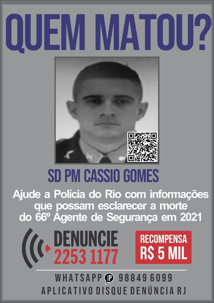 Disque Denúncia oferece recompensa de R$ 5 mil por informações de suspeitos de matar soldado da PM